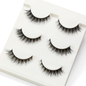 MAGEFY 3 Pairs 3D Mink Lashes Faux False Eyelashes Natural Long Eye Lashes Eyelash Extension Supplies Wispy Makeup Tools