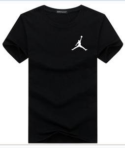 Fashion Sommer 2019 Männer o Kragen Kurzarm-T-Shirt aus 100% Baumwolle atmungsaktivem High-End-klassische Art und Weise beiläufige Pullover frei