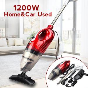 2 em 1 Bagless Car Vacuum Cleaner Handheld Vertical 1200 W 220 V Casa Veículo Tronco Vacuum Cleaner Kit de Abastecimento de Limpeza
