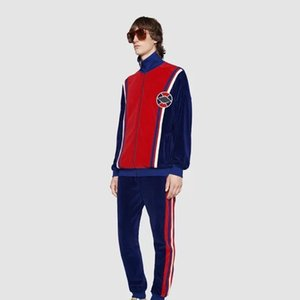 Fashio Europe Red And Blue Stitching Logo Zipper Baseball Uniform Fashion Casual Men And Women Couples Selling High Quality Jacket HFSSJK164