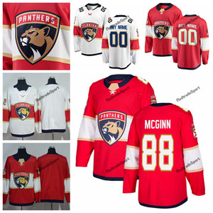 2019 Florida Panthers Jamie McGinn Chandails de hockey pour hommes Nom personnalisé Accueil Rouge # 88 T-shirts de hockey cousus Jamie McGinn