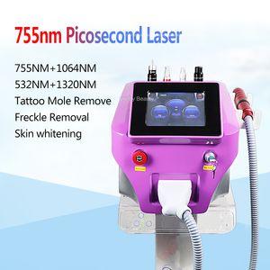 Picosecond Пигмент удаления Q Переключатель Picosure лазерная машина 1064 532nm Laser Pico 755 мм Ance Удаление Омоложение кожи салон клиника использования