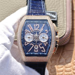 V45 패션 시계 블루 요트 7750 운동 디자이너 시계 44 미리 메터 mluxury 시계 자동 기계식 운동 몽 트르 드 디럭스