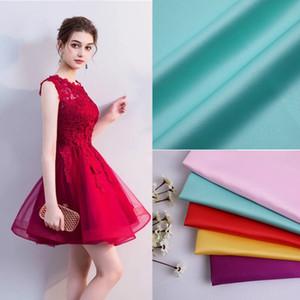 75Dx150D Matt Sardine Fabric 100% Polyester Plain Satin Fabric Sewing Kinderkleid Kleid Neckholder Shirt Textilmaterial
