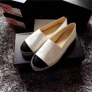 Designer Luxury 2019 New Women Espadrilles Top Quality Brand Real Lambskin Women Flat Shoes Fashion Comfortable Casual Loafers cal02