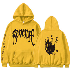 Новые Толстовки с капюшоном и принтом от Revenge Xxxtentacion Толстовки Sad Rapper Hip Hop Пуловер с капюшоном Swag Хлопковая толстовка с капюшоном