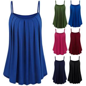 Le donne calde Strappy Vest Solid svasato dell'oscillazione Maglietta senza maniche per l'estate CGU 88