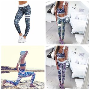 Fitness Yoga Sport Frauen Sport Leggings Gedruckt Stretch Trainingshose Hohe Taillenelastizität Laufhose Athletic Pro