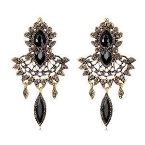 Bohemian Retro Earrings With Crystals Rhinestones Long Drop Earring For Women Bridal Jewelry Party Birthday Gift For Women BW-255