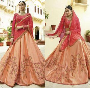 Индийский длинный рукав вечерние платья жемчужины шеи кружева вышивка две части линии роскошный выпускной платья на заказ формальные платья