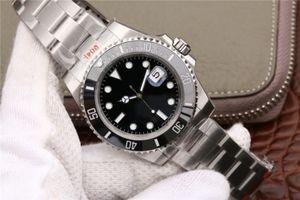 hombres N superior fábrica de lujo relojes reloj mecánico automático 904L 116610ln ETA 3135 deportes superior de cerámica reloj de buceo marco de entrega libre de DHL