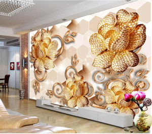 Кристально чистая жемчужина Магнолия расцветает открыть 3D фон стены современная гостиная обои