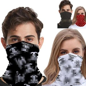 Designer Outdoor Bicycle Cycling Face Masks Bandanas Letter Scarf Headband Neckerchief Multifunction Cap Sports Head Scarves Half Face Mask