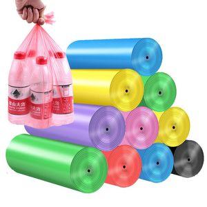 5 rouleaux sacs poubelle colorés sacs en plastique de haute qualité des produits de nettoyage ménagers 5 pièces sacs poubelle cuisine chambre toilette salon