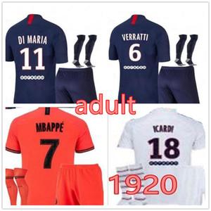 Jordan Paris 1920 PSG Paris conjunto de fútbol adulto MBAPPE CAVANI jersey 2019 20 kit de fútbol campeón traje de hombre