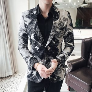 Vetement Homme Veste Mariage Lentejuela Hombre Mens Casual Wear Mens African Print Blazers Masculino Slim Fit Club Outfits