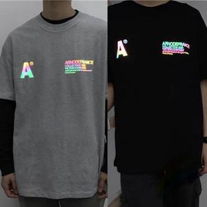3M Reflective Мужчины Женщины 1 высокого качества вскользь хлопок Красочные T-Shirt Top тройники