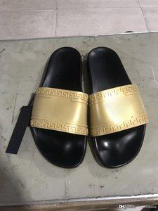 2019 Palazzo Medusa Havuzu Slaytlar ile Kabartmalı Medusa Başkanı Kauçuk Slip-On Lastik Pvc Sandalet Terlik Moda Terlik