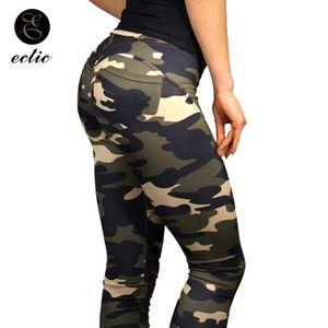 Camo blu Leggings Camouflage Pantaloni Palestra Army Green Leggings Butt sollevamento alta Donne Vita anca sexy Peach Push Up Pants