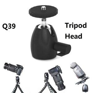 Q39 Mini ball head treppiedi teste 1/4 '' Hot Shoe Mount Stand adattatore per monopiede treppiede Light Stand Canon Nikon DSLR DV Camera