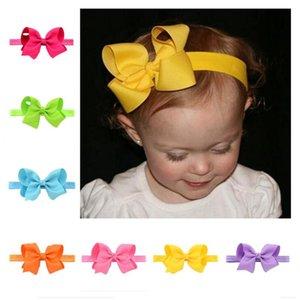 Fashion Cute Girl Hair Accessories 1Pcs Baby Bow Soft knot Girls Flower Hairband Elastic Band Lovely Headband Hairwear
