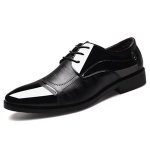 Sports Business dança de salão de baile Latin Prom Apontado Homens Tamanho Grande Sapatos de couro de casamento