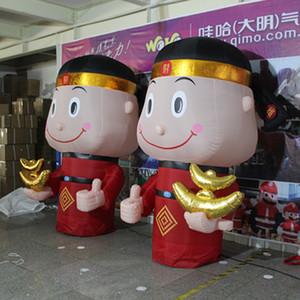 6m gigante gonfiabile dio della fortuna per il nuovo anno cinese decorazione Shopping Mall eventi promozionali soldi gonfiabile della fortuna