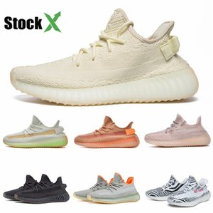 New Baby Baby Boy Girl Shoes Kanye West V2 Running Shoes Clay Zebra Pirate Black Toddler Trainers Beluga 2.0 Sneakers #QA748