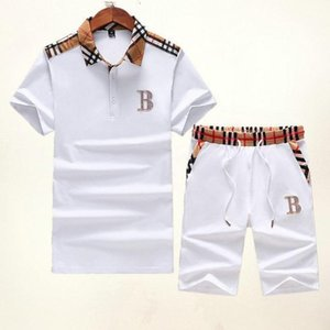 2019 Summer Newest Arrival Men And Women Tracksuit Pure Cotton And Short Sleeves T Shirt And Pants Embroidery