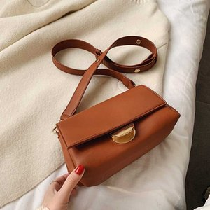 LANZHIXIN Vintage Lady Solid colore PU Borse in pelle a tracolla per le donne Moda semplice Tracolla Messenger femminile Borse