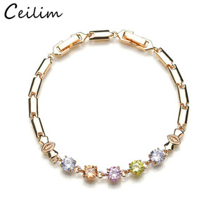 High Quality Cubic Zircon Bracelet For Women 18K Gold Plated Sterling Silver Bracelet Jewelry Accessories