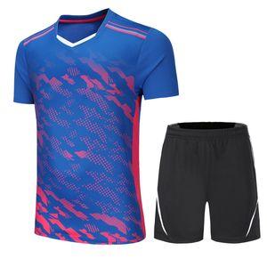 Neue Badminton-Shirts tragen Sets Kleidung Trikots, atmungsaktive, schnell trocknende Tischtennis-Trikots Sportbekleidung Shorts + T-Shirt