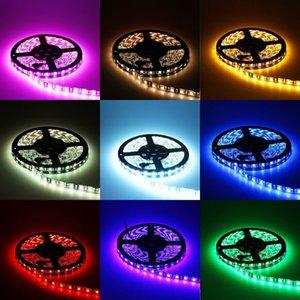 5050 60LED / M 칠판 RGB 다채로운 윌 변경 등 주방 침실 소프트 램프 LED 에폭시 소프트 스트립 조명 12V