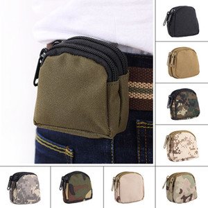 Nylon Fashion Waterproof Mini Sports Pockets Camouflage Tactical Waist Bag Outdoor Camping Military Tactical Waist Pockets DH0820 T03