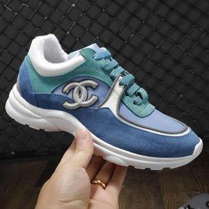 las mujeres ocasionales de moda con cordones bajo-top 2020New las mujeres zapatillas de piel de becerro de diseño de lujo zapatos de terciopelo y de marfil de fibra mixta s zapatos superior qua