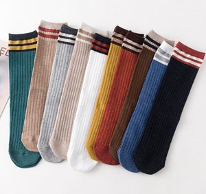 Calcetines de rayas de algodón de punto cálido y suave para mujer Calcetines coloridos ocasionales Otoño Invierno Calcetines de clima frío calcetería regalo de navidad de año nuevo