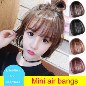 Bangs adet Hairpieces Franja Saç modeli Siyah Kahverengi Bangs uzantısında% 100 Gerçek İnsan Saç Bang Fringe Doğal Saç Klip
