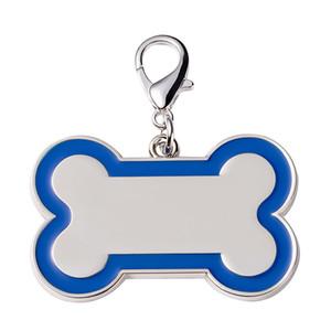 Цинковый сплав кулон кость собака бирка Pet ID карта с лазерной надписью на спине