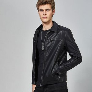 Mens Leather Jackets Spring And Autumn Motorcycle Male PU Coats Biker Faux Leather Fashion Outerwear