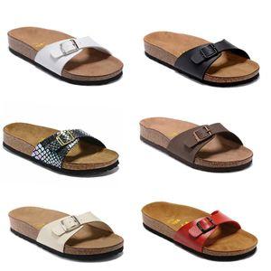 Madrid 2019 Nueva Cork verano de la playa del deslizador de las chancletas de mujeres de las sandalias color mixto, Zapatos Diapositivas plano ocasional 801 de envío gratuito US3-10