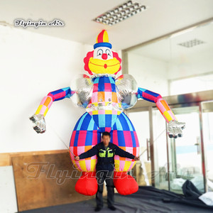 Circus Parade Performance Walking Inflatable Clown Costume 3.5m Adult Finger Controlled Blow Up Clown Puppet For City Parade Event