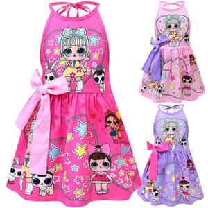 Детские куклы для девочек с обнаженной спиной, платье для детей, принцесса, принцесса, мультфильм 2019 модный бутик, детская дизайнерская одежда, 6 цветов C6513
