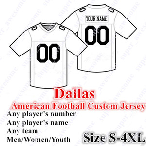 4XL CUSTOM Dallass Football Jersey 4 Prescott 21 Elliott 19 Cooper 13 Gallup 82 Witten 18 Cobb 54 Smith 55 Vander Esch 90 Lawrence 58 Quinn