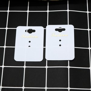 New White Paper / plastica HandMade Jewerly Tag Collana Card Ring Card Fashion Display Jewelry Packing Card 1000pcs