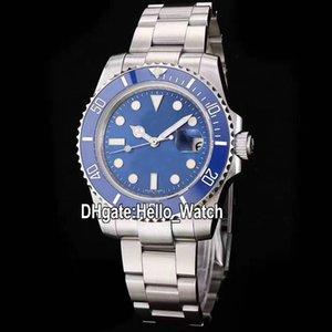 40 milímetros New Sub Data 116619LB-97209 116619 Miyota 8215 Mens Automatic Assista Azul Dial azul safira Cerâmica Bezel SS pulseira de aço Watchesa
