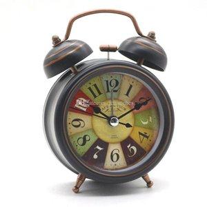 Alarme Horloge Vintage Wholesale Horloge de bureau avec rétro-éclairage double de Bell Bureau Table Horloge numérique Home Decor