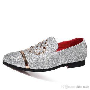 New Italian manera del brillo de los holgazanes de los hombres nuevo vestido de boda 2020 coiffeur llegada zapatos formales de los hombres elegantes zapatos del partido de los hombres