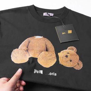 Beauty tide PALM shirt angels broken head bear PA casual sports loose round neck short sleeve T-shirt men and women