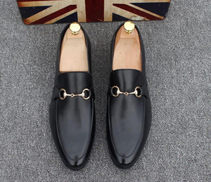 Chaussures Marques à hommes en cuir Casual Driving Oxfords Flats Chaussures Hommes Mocassins Mocassins Chaussures italiennes pour hommes