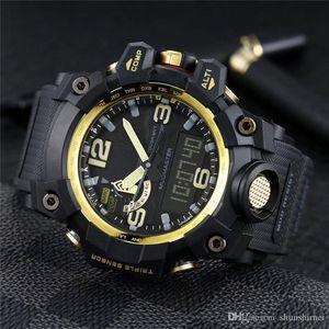 Exibição de alta qualidade Mens Sport Watch Mudmaster Quartz-Battery Digital Waterproof Todos Função Luz GWG-1000 Masculino Relógio